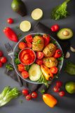 Vegan buddha bowl. healthy lunch bowl with hasselback potato, av stock images