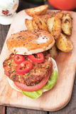 Vegan burger Royalty Free Stock Images