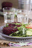 Vegan burgers with beetroot and beans Royalty Free Stock Image