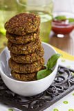 Vegan burgers with lentils and pistashios Stock Photography