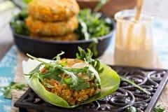 Vegan burgers with sweet potato and chickpeas Stock Image