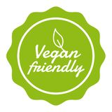 Vegan Button Vegan Friendly Badge. Eps10 Vector Banner. Vegan Button Vegan Friendly Badge. Eps10 Vector Banner vector illustration