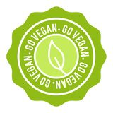 Vegan Button. Go Vegan Badge. Eps10 Vector Banner. royalty free illustration