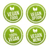 Vegan Buttons und Vegetarian Banner Set. Eps10 Vector royalty free illustration