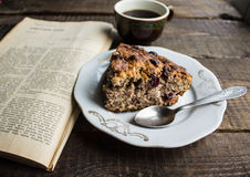 Vegan cake with cinnamon Royalty Free Stock Images