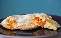 Vegan Calzone Photographie stock