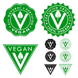 Vegan Certified Seals Icons Set Stock Image
