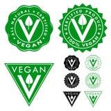 Vegan Certified Seals Icons Set Stock Image