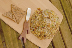 Vegan Cheese Ball as side dish on rustic table Stock Photo