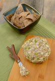 Vegan Cheese Ball with bean and rice chips Royalty Free Stock Photo