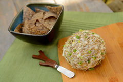 Vegan Cheese Ball and cheese spreader Royalty Free Stock Photo