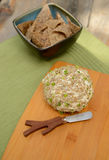 Vegan Cheese Ball with chips Royalty Free Stock Image