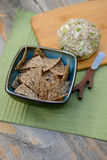 Vegan Cheese Ball with chips Royalty Free Stock Photo
