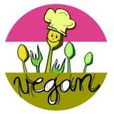 Vegan Baby Chef, Cartoon for Children Stock Photography