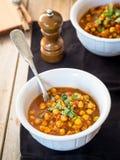Vegan chickpea curry. Stock Photos