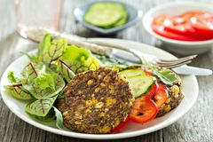 Vegan chickpeas burgers Royalty Free Stock Photos