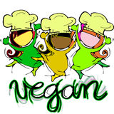 Vegan Baby Chef, Cartoon for Children-Diversity Stock Photography