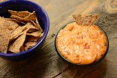 Vegan chips and dip or nachos Stock Photos