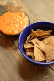 Vegan chips and dip or nachos Royalty Free Stock Images