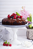 Vegan chocolate cake Royalty Free Stock Images