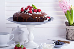 Vegan chocolate cake Stock Photos