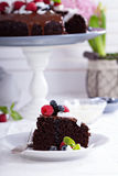 Vegan chocolate cake Royalty Free Stock Photo