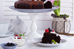 Vegan chocolate cake Stock Images