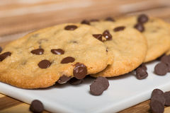 Vegan Chocolate Chips Cookies Stock Photo