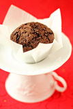 Vegan chocolate muffin Royalty Free Stock Images