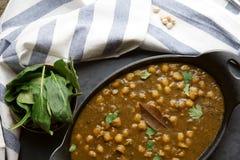 Vegan Chola Palak or Chana palak Royalty Free Stock Photography