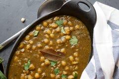 Vegan Chola Palak or Chana palak Stock Photo