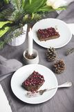 Vegan christmas table ideas Royalty Free Stock Images