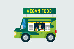 Vegan city food car icon. Nature product, vitamin Stock Photography