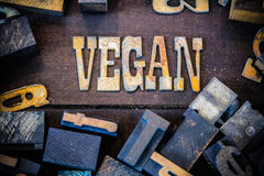 Vegan Concept Rusty Type Royalty Free Stock Photos