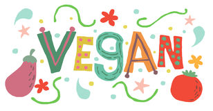 Vegan concept vector Stock Photo
