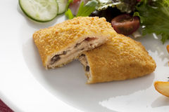 Vegan Cordon Bleu Stock Images