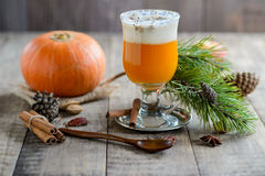 Vegan Creamy Delicious Pumkin juice Stock Photo