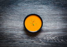 Vegan Creamy Delicious Pumkin Soup stock image