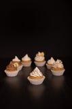 Vegan Cupcakes infront of dark Background Stock Photo
