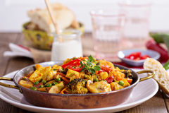 Vegan curry with tofu and vegetables Royalty Free Stock Photos