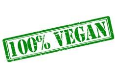 Vegan de cent pour cent illustration libre de droits