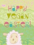 Vegan felice Pasqua Immagine Stock