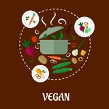 Vegan flat infographic design Stock Images