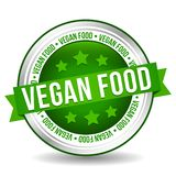 Vegan food Badge - Online Button - Banner with Ribbon royalty free illustration