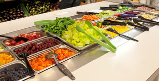 Vegan food buffet. With vegetables and fruit Royalty Free Stock Photos