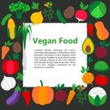 Vegan food concept Stock Images