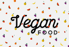 Vegan food design with colorful fruit elements Stock Photo