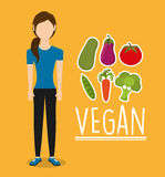 Vegan food design. Illustration eps10 graphic Stock Images