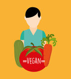 Vegan food design. Illustration eps10 graphic Stock Photography