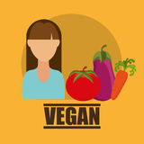 Vegan food design. Illustration eps10 graphic Royalty Free Stock Photo